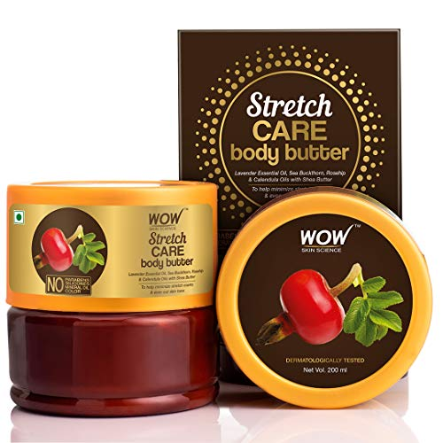WOW Skin Science Stretch Care Body Butter for all skin type – No Parabens, Silicones, Mineral Oil and Color, 200 ml