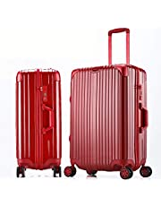 Sturdy Boarding Box Universal Wheel Luggage Student Trolley Case Suitcase Password Box Large Capacity (Color : Blue, Size : 26inch)