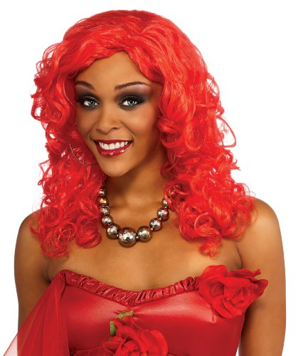 Rihanna Adult Wig, Red, One Size ()