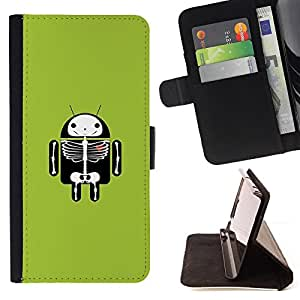 DEVIL CASE - FOR Samsung ALPHA G850 - Funny Android X Ray - Style PU Leather Case Wallet Flip Stand Flap Closure Cover