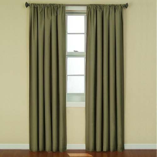 Eclipse Kendall Blackout Thermal Curtain Panel,Artichoke,84-Inch Color: Artichoke Size: 84-Inch NewBorn, Kid, Child, Childern, Infant, Baby