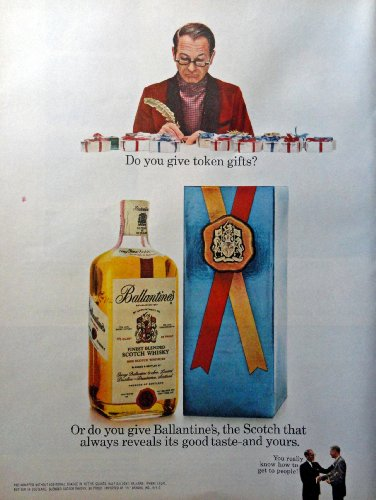Ballantine's Finest Blended Scotch Whisky, Full Page Color Illustration, 10 1/4