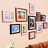 WillST 11 Multi Aperture Photo Frame Wooden Set Modern Simplicity Style Creative Photo Wall , d