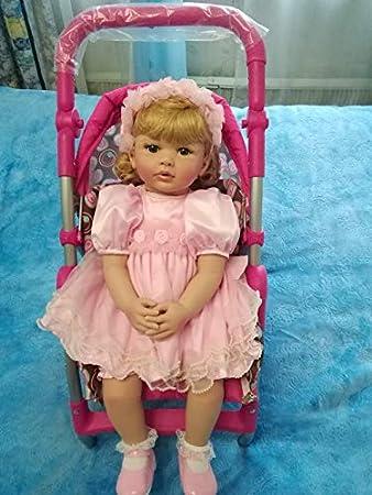 Kokomo Reborn Toddler Girl Dolls 24 inch Realistic Weighted Baby Doll Blond Hair Blue Eyes Look Real Lifelike Baby Girls