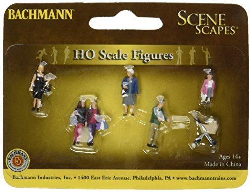 Bachmann Industries Miniature HO Scale Strolling People Figure (5 Piece) (People Ho Scale)
