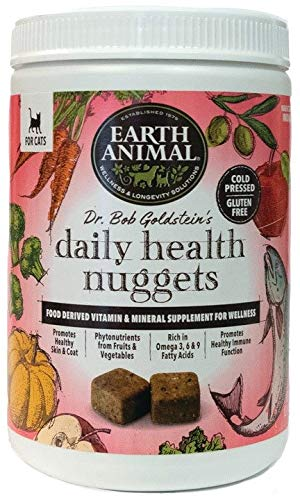 Earth Animal Daily Health Nuggets for Cats, 1 Pound, Vitamin and Mineral Supplement