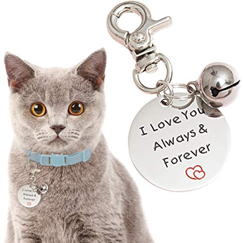 (OFPUPPY Cat Gift Tags with Bell - Dog Stainless Steel Pendant with Gift Bag, Pet Label Present Style for Pet Kitty Collar)