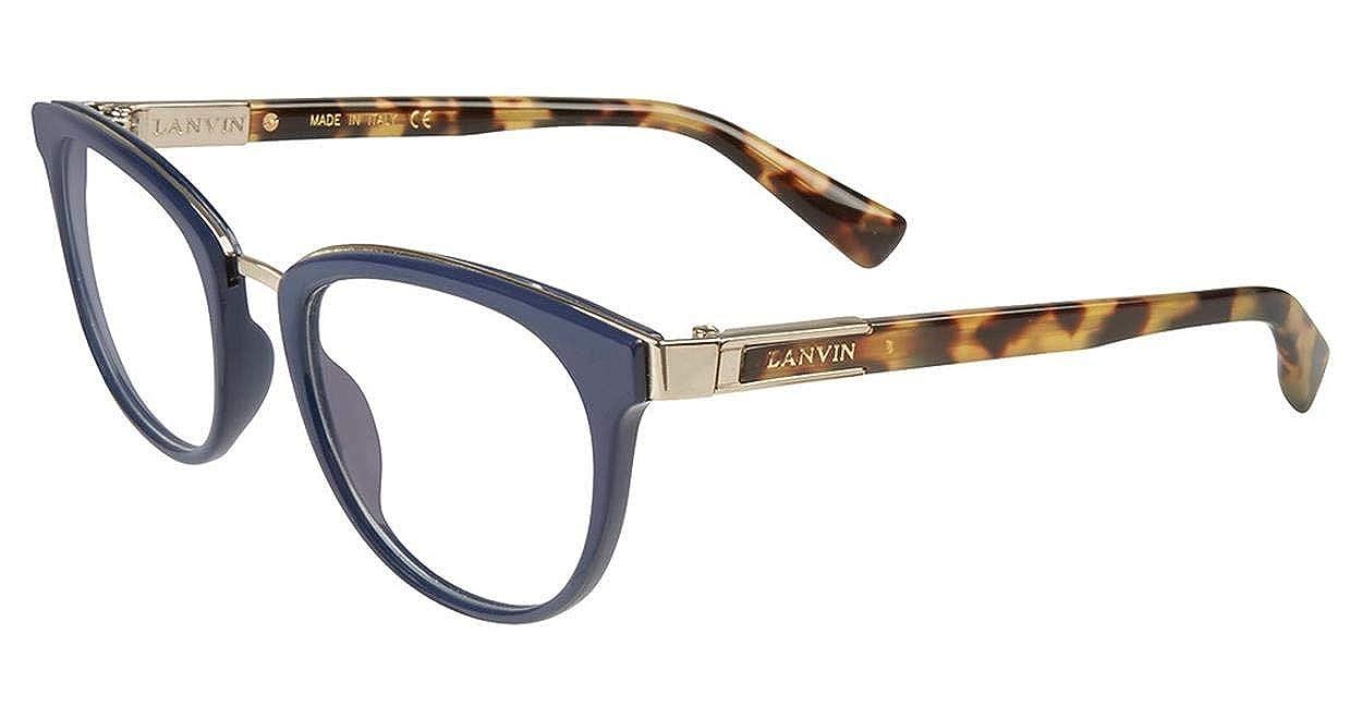 Eyeglasses Lanvin VLN 079 Shiny Blue 0D82