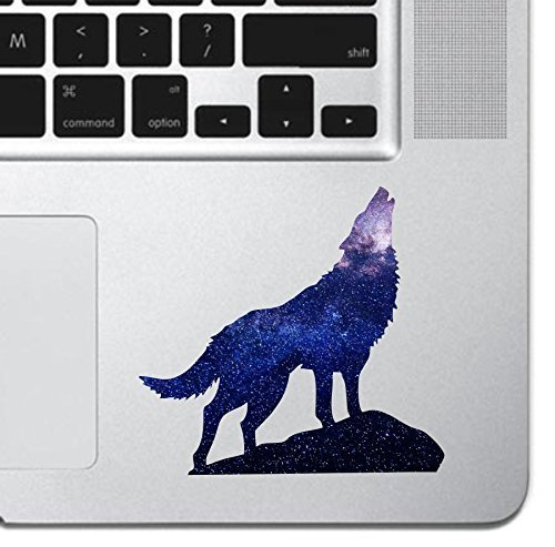Cosmic Howling Wolf Laptop Sticker Keyboard, Keypad Vinyl Macbook Decal Sticker - Skin Track Pad MacBook Pro Air 13