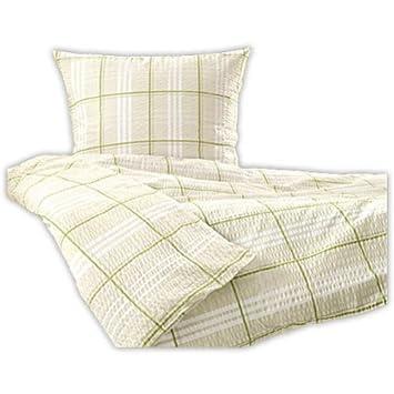 Tchibo Seersucker Bettwäsche übergröße Beige Weiß Grün Amazonde