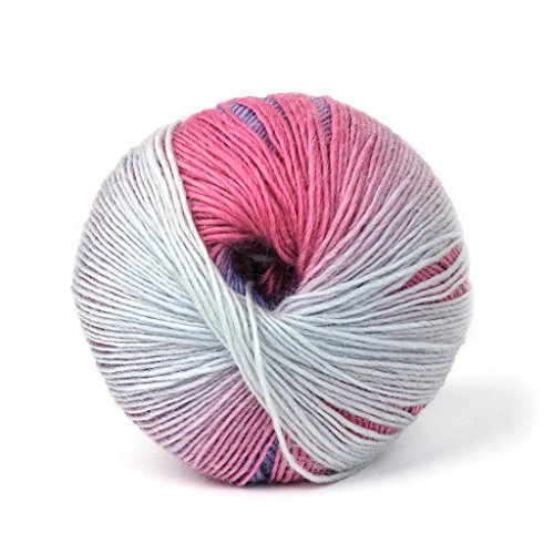 Susada 1Ball 50g Mini Hand-woven Rainbow Colorful Crochet Cashmere Wool Blend Yarn Knitting (007) ()
