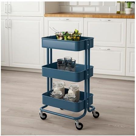 IKEA Raskog Utility Cart Dark Blue