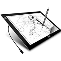 A4 LED Light Box Zecti A4 6-Level Brightness Tracing Light Pad for Artists Drawing Sketching Animation Stencil Tattoo 13.7x10.2 Inch