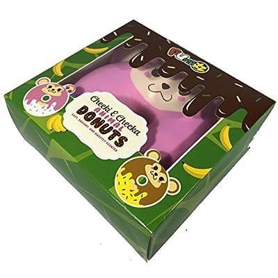 Puni Maru Jumbo Animal Donut with Display Box Featuring Cheeka: Toys & Games