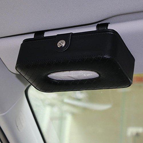 Automobile Paper Corner - Leather Car Sun Visor Hanging Towel Box Paper Napkin Holder - Railway Machine Seat Gondola Loge Railroad Motorcar Weave Package Cable Elevator - 1PCs