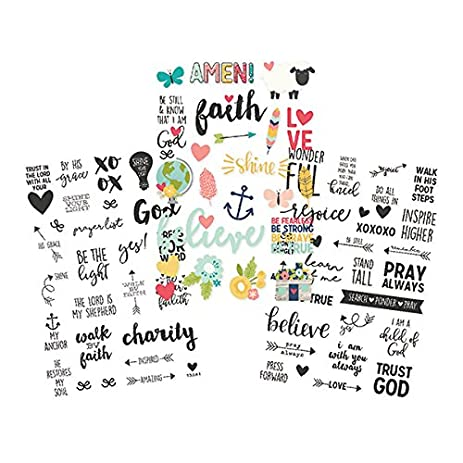 Simple stories 7725 faith clear stickers