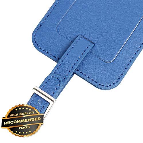 (Florance Jones 2PCS Custom Leather Luggage Tags Suitcase Backpack Laptop Name Address ID Label | Style Mat-RG145301781)