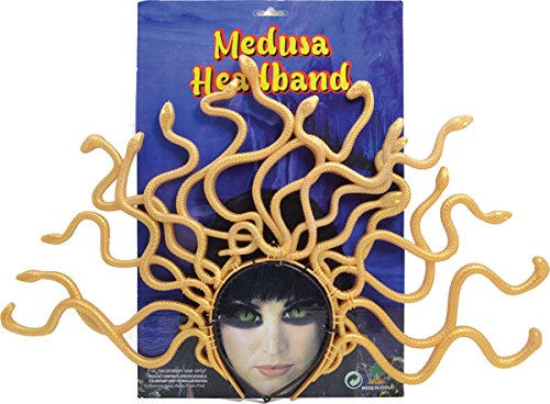 [Greek Fancy Dress Party Fun Accessory Goddess Medusa Headband Snake Headpiece] (Medusa Headpiece Halloween Costume)