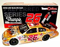 5X AUTOGRAPHED 2006 Jamie McMurray #26 Sharpie Racing Team (Ganassi) Copper Finish Signed 1/24 Team Caliber Preferred NASCAR Diecast Car with COA by Trackside Autographs