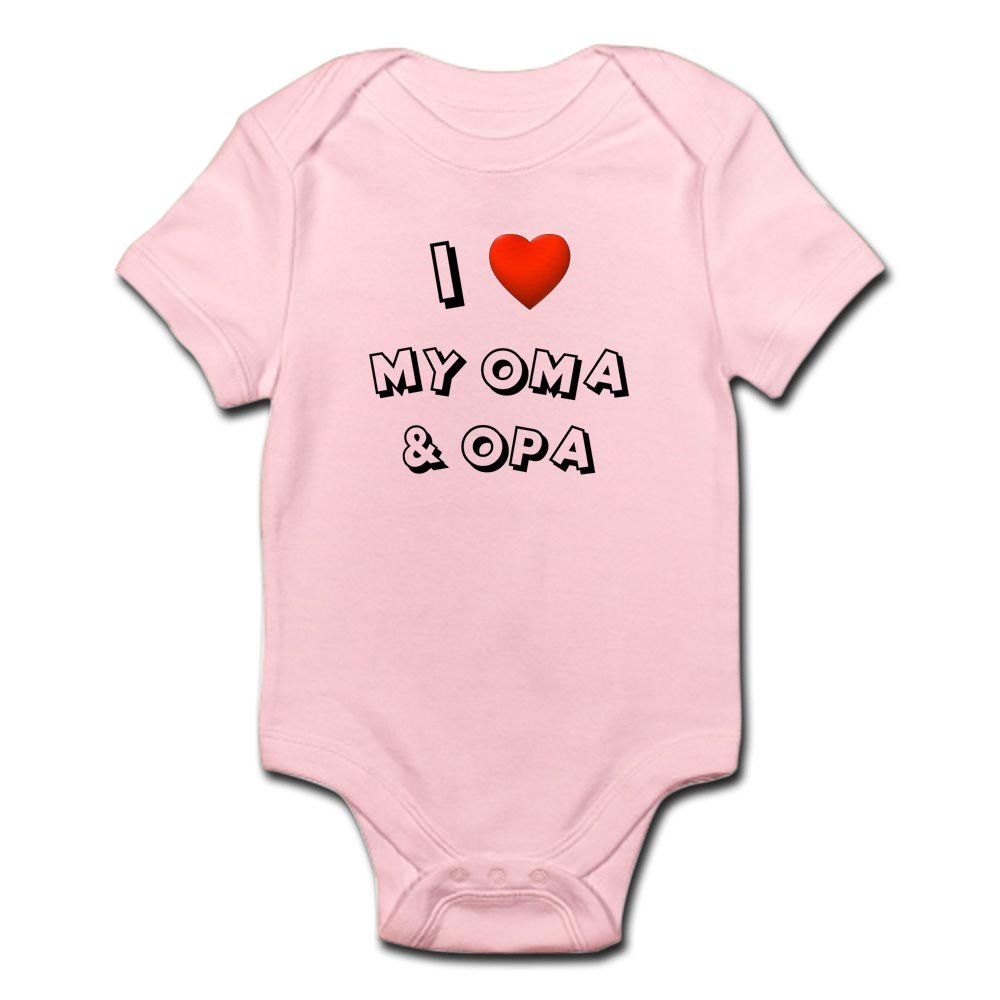 CafePress - I Love My Oma & Opa - Cute Infant Bodysuit Baby Romper