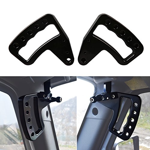New Aluminum Grab Handles GraBars for Jeep Wrangler JK JKU Unlimited Rubicon Sahara X Off Road Sport Interior Accessories Parts 2007 2008 2009 2010 2011 2012 2013 2014 2015 2016 ()