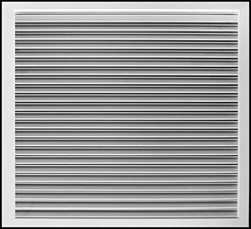 """24""""w X 24""""h Aluminum Privacy Door HVAC Air Grille -""""V"""" Shaped Louvers Ensure 100% View Block - Supply or Return [Outer Dimensions: 25""""w X 25""""h]"""