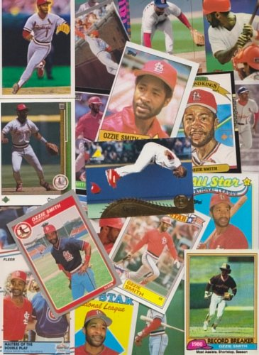 ferent Baseball Cards featuring Ozzie Smith ()
