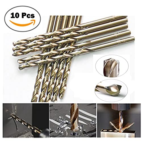"""Top High Speed Steel 3/32"""" Inch Cobalt M35 Fully Ground Heavy Duty General Purpose Jobber Length Twist Drill Bit 135 Deg. Split Point Drilling For Metal, Steel,Iron..(10Pcs in Pack) for cheap"""