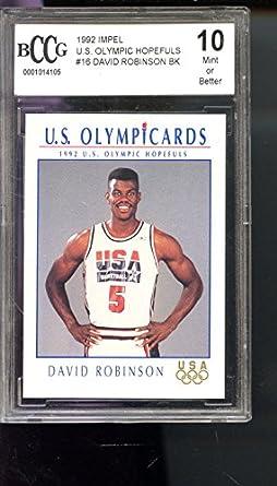 finest selection 536e1 3babc 1992 Impel Olympicards David Robinson Dream Team 16 Olympics ...