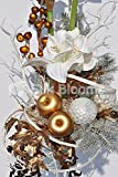 Hourglass Martini Vase Xmas Display w/ Amamrylis & Golden Apples