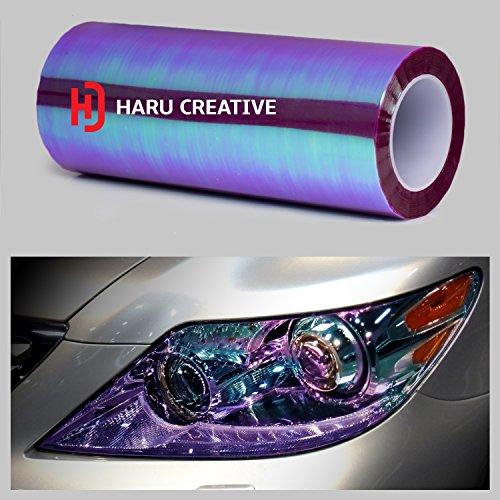 Haru Creative - Ultra gloss Neo Chrome Film Sticker - Headlight, Tail light and Fog light tint - Chameleon Purple 12