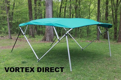 RTEX TEAL 4 BOW PONTOON/DECK BOAT BIMINI TOP 8' LONG, 91-96 ()