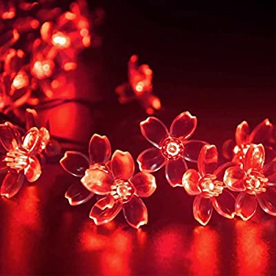 LEDniceker Fairy Solar LED Lights String, 7m 23ft 50 Bright LED Bulbs, for Gardens, Patio, Lawn, Yard, Porch, Garden Fence, Christmas Trees, Camper, Parties, Indoor And Outdoor Activities