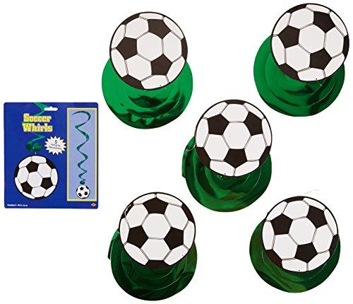 Soccer Ball Whirls   (5/Pkg) ()