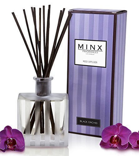- Aromatherapy Oil Reed Diffuser Gift Set MINX Fragrances (BLACK ORCHID)