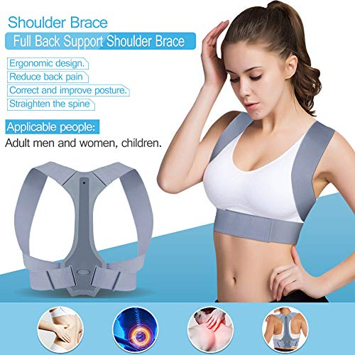 - Back Posture Corrector Adjustable Shoulder Brace Support for Improve Bad Posture, Back and Neck Pain Relief, Posture Trainer for Women, Men, Child [2019 New Upgrade]