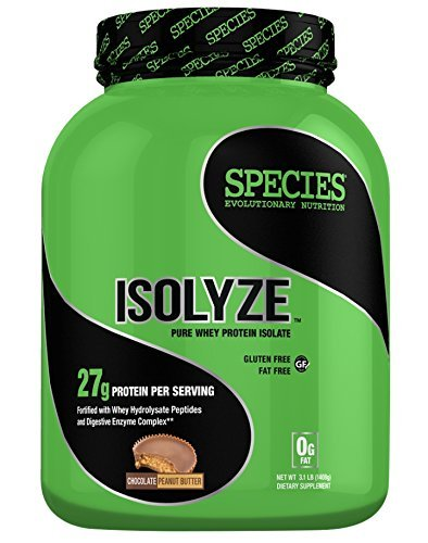 Species Nutrition Isolyze Peanut Butter Supplement, Chocolate, 3.1 Pound by Species Nutrition