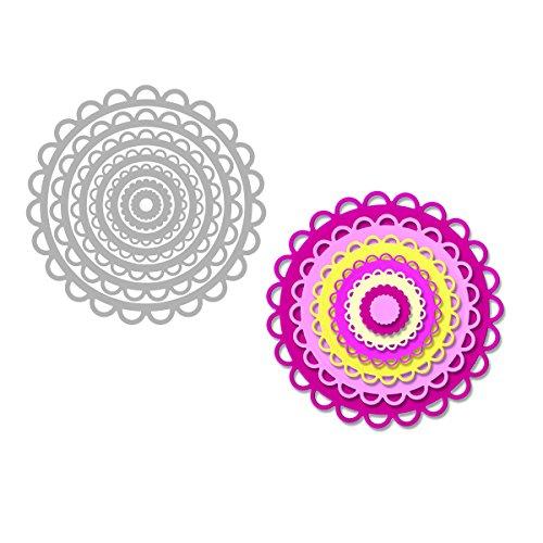 Sizzix Scallop Circles Framelits Dies By Stephanie Barnard, 6-Inch by 13.75-Inch, ()