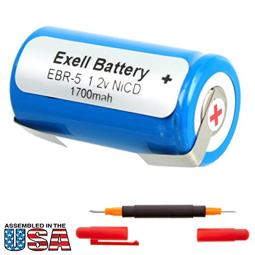 Exell 1.2V Razor Battery for Norelco HP 1304, 1327D, 1328, P130SCR Replaces Razor-5