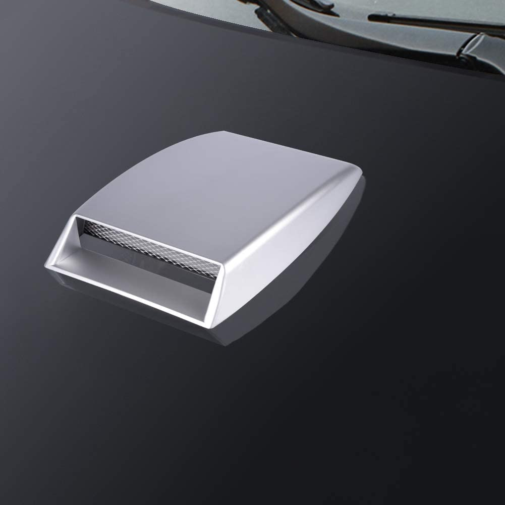 White Car Air Flow Sticker ABS Universal Car Decorative Air Flow Intake Scoop Bonnet Vent Sticker Cover Hood Air Flow Intake Scoop