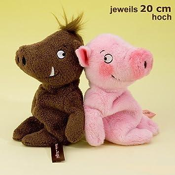 Rosalie und Trüffel als Paar Glücks - Schweinchen 20 cm