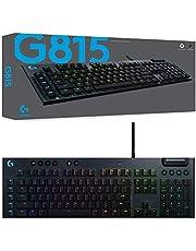 Logitech 920-009222 G815 Lightsync RGB Mechanical Gaming Keyboard with GL-Tactile Switch, Black