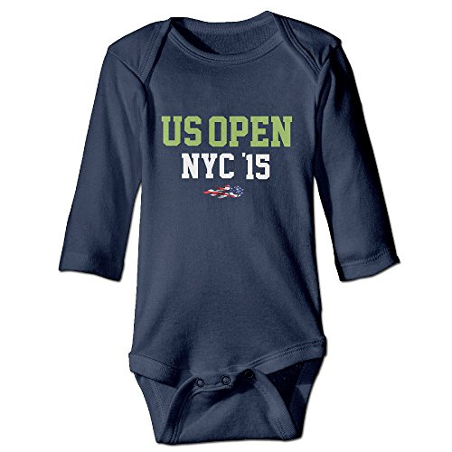 Kids Baby US Open 2015 Dated NYC Long-sleeve Romper Jumpsuit Navy