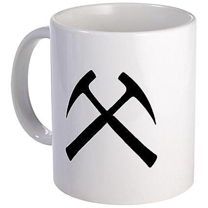 Amazon com: CafePress - Crossed Rock Hammers Mug - Unique