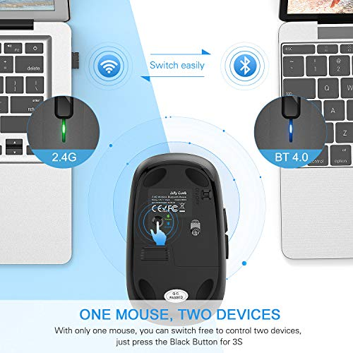SHOPUS | Wireless Bluetooth Mouse, Jelly Comb Dual Mode Bluetooth