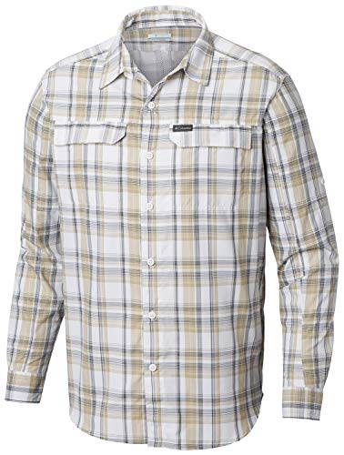 (Columbia Men's Silver Ridge 2.0 Plaid Long Sleeve Shirt, UV Sun Protection, Moisture Wicking Fabric)