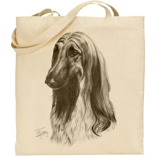 Mike Sibley Afghan Hound Cotton Natural Bag