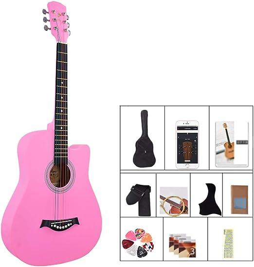 BAIYING-Guitarra Acústica 38 Pulgadas Práctica Estudiantil ...