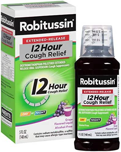 Cough & Sore Throat: Robitussin 12-Hour Cough Relief