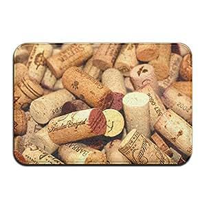 diyabcd rojo vino corchos Felpudo antideslizante para casa jardín puerta alfombra Felpudo piso almohadillas